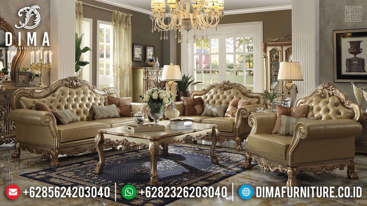 Sofa Tamu Mewah Ukiran Classic Design Luxury Royals Furniture Jepara MMJ-0639