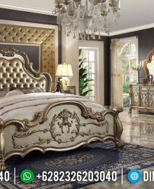 Tempat Tidur Mewah Ukiran Jepara Kayu Perhutani Great Quality MMJ-0623