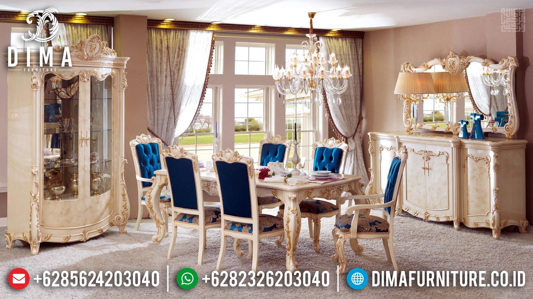 Best Sale Meja Makan Ukiran Luxury Classic Royals Furniture Jepara MMJ-0665