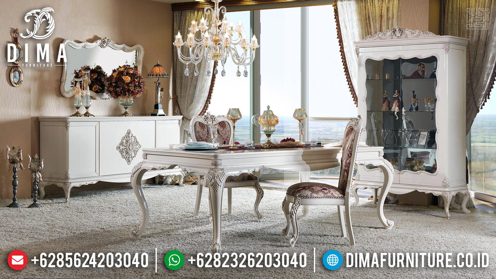 Furniture Jepara Meja Makan Mewah Classy Luxury New Design 2020 MMJ-0673
