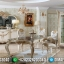 Jual Meja Makan Mewah Golden Crown Luxury Carving Baroque Classic MMJ-0676