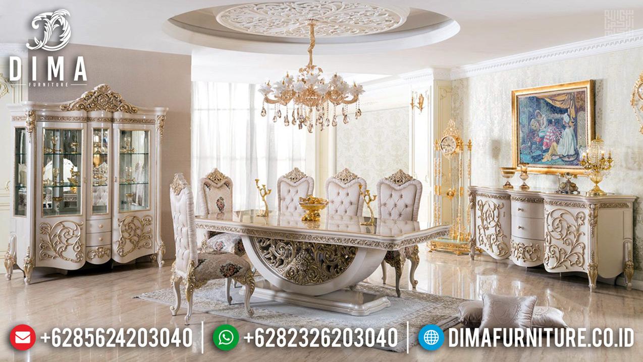 Jual Meja Makan Mewah Klasik Desain Elegant Ukiran Jepara Luxury MMJ-0667