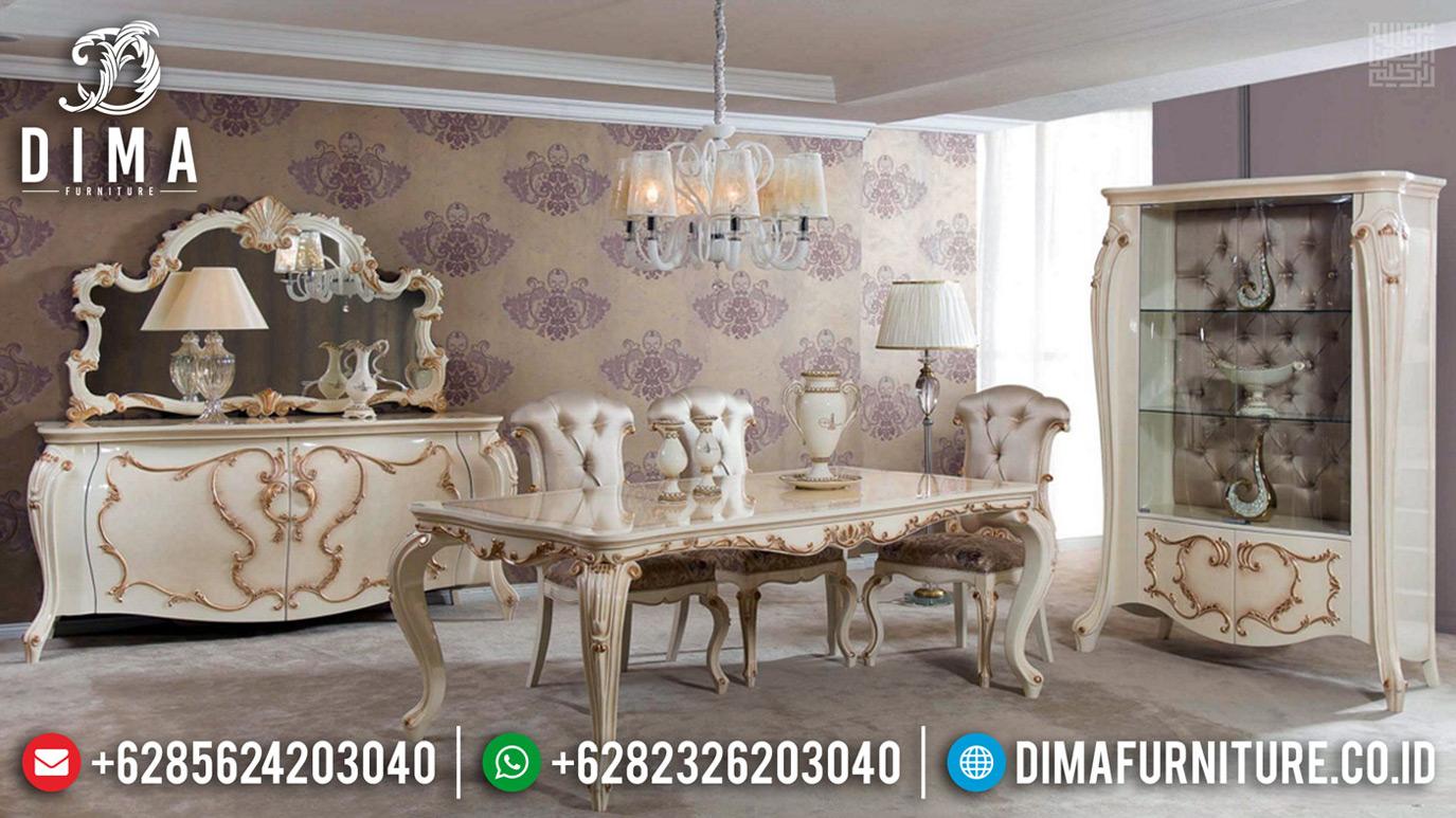 Meja Makan Mewah Jepara Donatella Version Luxury Carving Egypt Design MMJ-0672