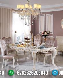 Sale Ramadhan Meja Makan Mewah Jepara Classy Versace Luxury Elegant Style MMJ-0678