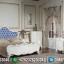 Desain Kamar Set Klasik Putih Duco Glossy Solid Wood Perhutani MMJ-0694
