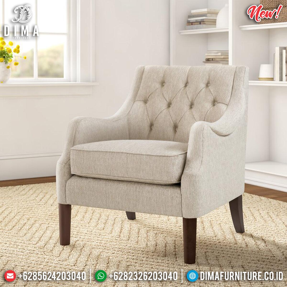 Epic Desain Sofa Minimalis Single Seater New Luxury Furniture Jepara MMJ-0818 Desain 1