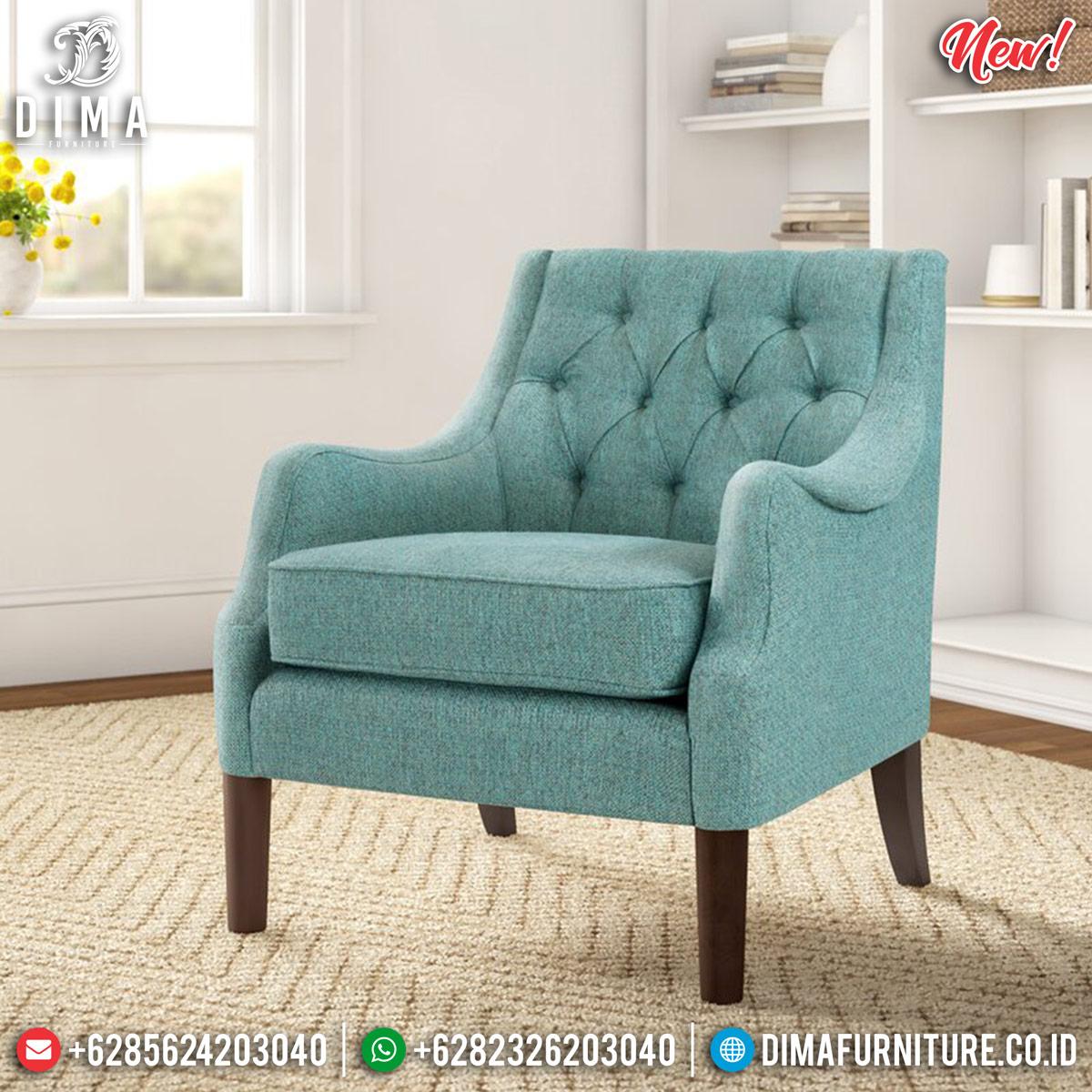 Epic Desain Sofa Minimalis Single Seater New Luxury Furniture Jepara MMJ-0818