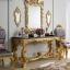 Harga Cermin Hias Mewah Set Meja Konsol Ukiran Luxury Khas Jepara New Product MMJ-0722