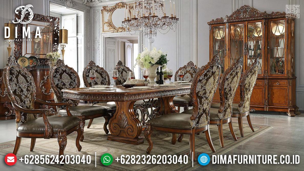 Deskripsi Harga Set Meja Makan Mewah Jepara Da Vinci Style Emperial Rome Artistik MMJ-0714