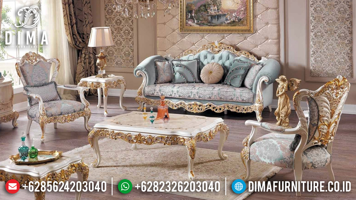Harga Sofa Tamu Mewah Carlotta Luxurious Classic New Desain Great Quality MMJ-0727