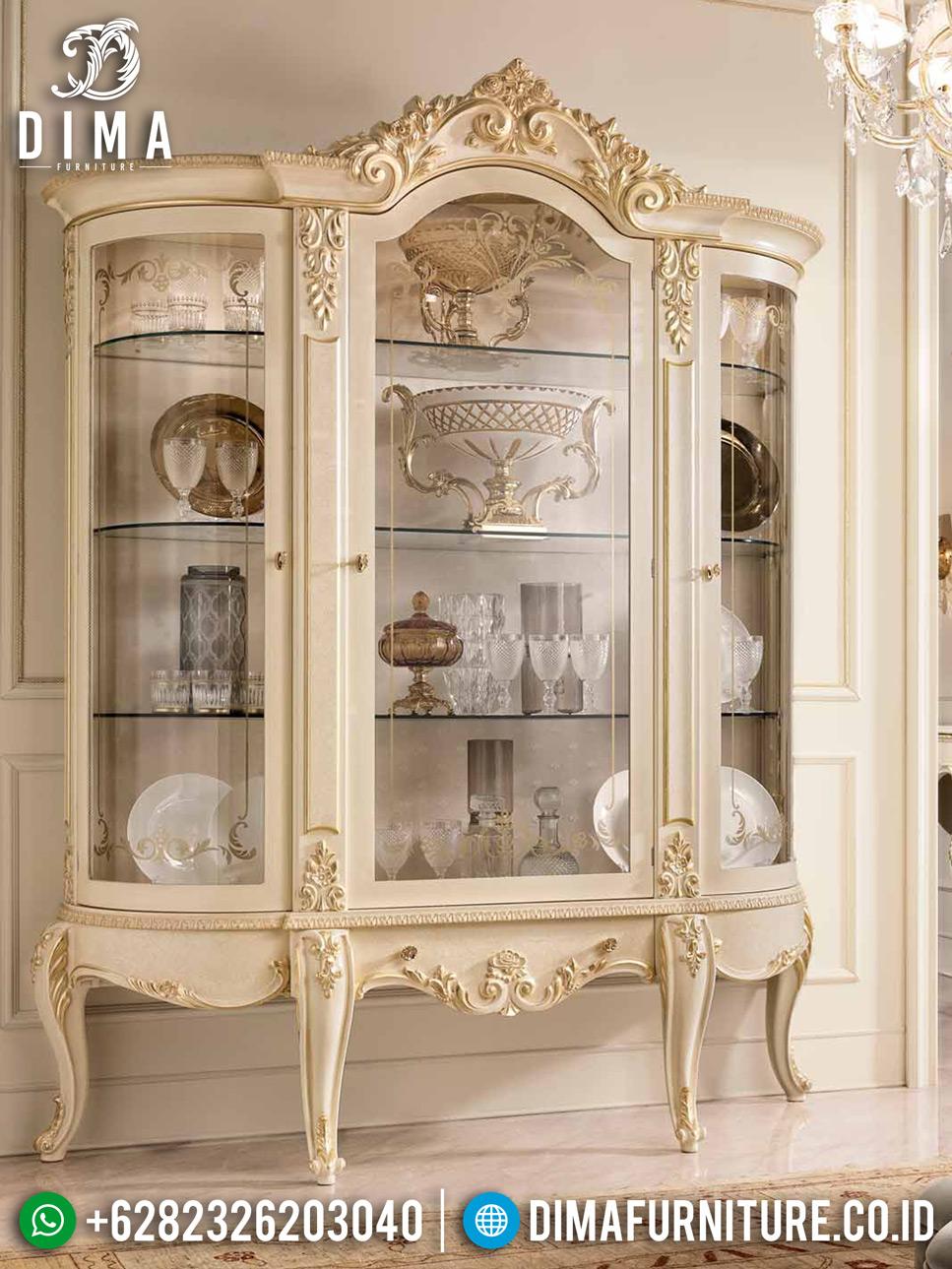 Jual Lemari Hias Ukiran Jepara New Luxury Carving Royals Elegant Style MMJ-0752