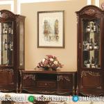 Jual Meja TV Ukiran Jati Set Lemari Hias Mewah Luxury Great Desain MMJ-0828