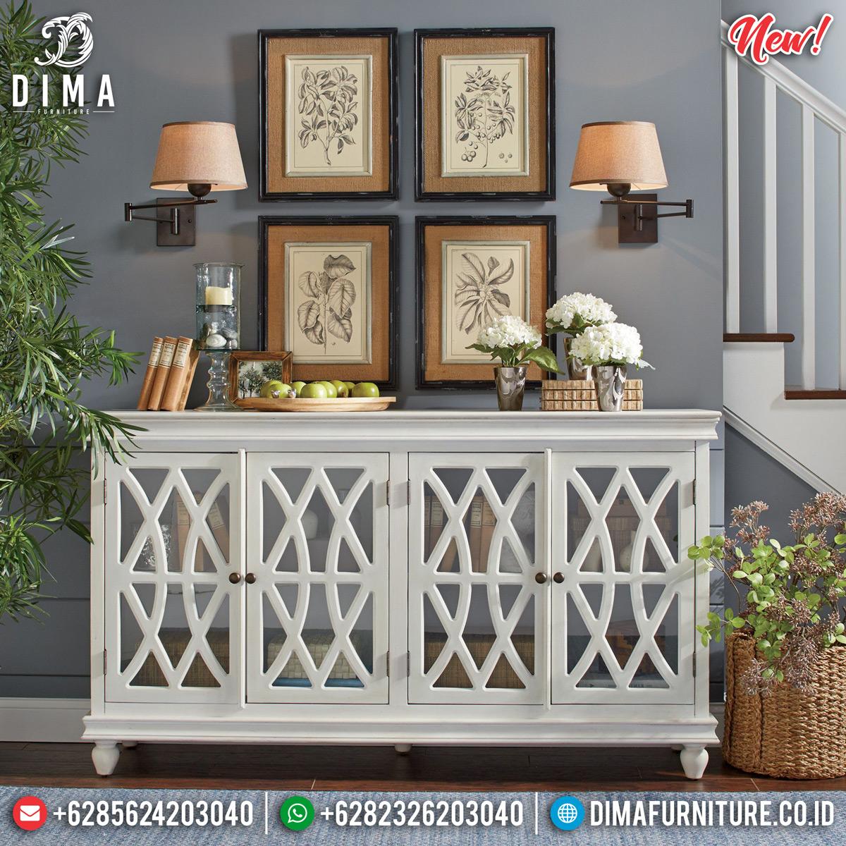 Meja Konsol Minimalis Modern Putih Duco New Extraordinary Furniture Style MMJ-0819