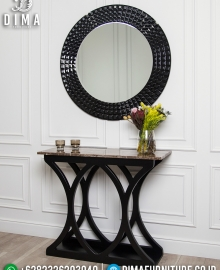 Meja Konsul Mewah, Cermin Hias Ukiran Luxury New Desain Italian Furniture MMJ-0723