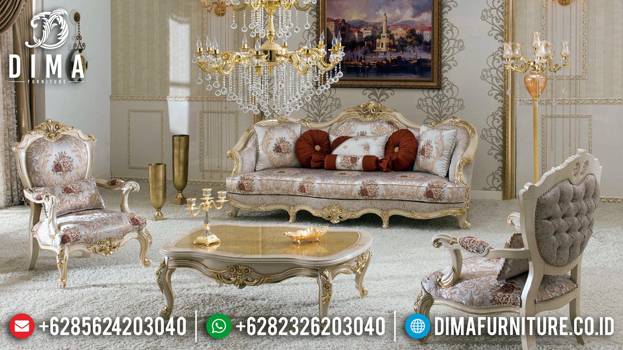 Model Ruang Tamu Mewah Sofa Tamu Ukiran Klasik Luxury New Turkish Style MMJ-0734