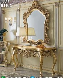 New Cermin Hias Mewah Ukiran Klasik Set Meja Konsol Luxury Furniture Jepara MMJ-0725
