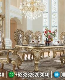 New Desain Meja Makan Mewah Ukiran Baroque Luxury Italian Furniture Classic MMJ-0713