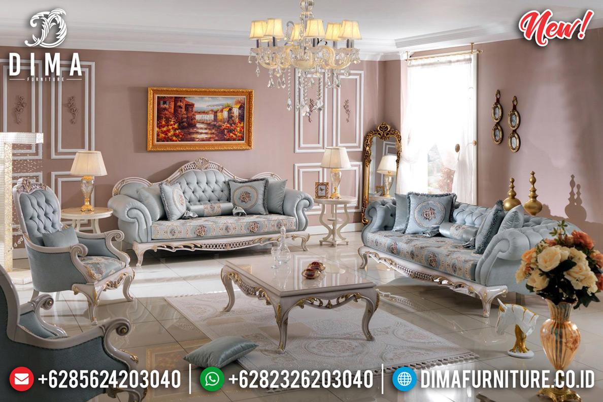 New Desain Ruang Tamu Elegant Sofa Tamu Klasik Mewah Luxury White Duco Color MMJ-0733