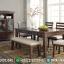 New Set Meja Makan Minimalis Jati Natural Klasik Furniture Jepara Termurah MMJ-0700