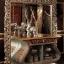 Set Meja Konsol Mewah Ukiran, Cermin Hias Luxury Carving New Interior Desain MMJ-0720