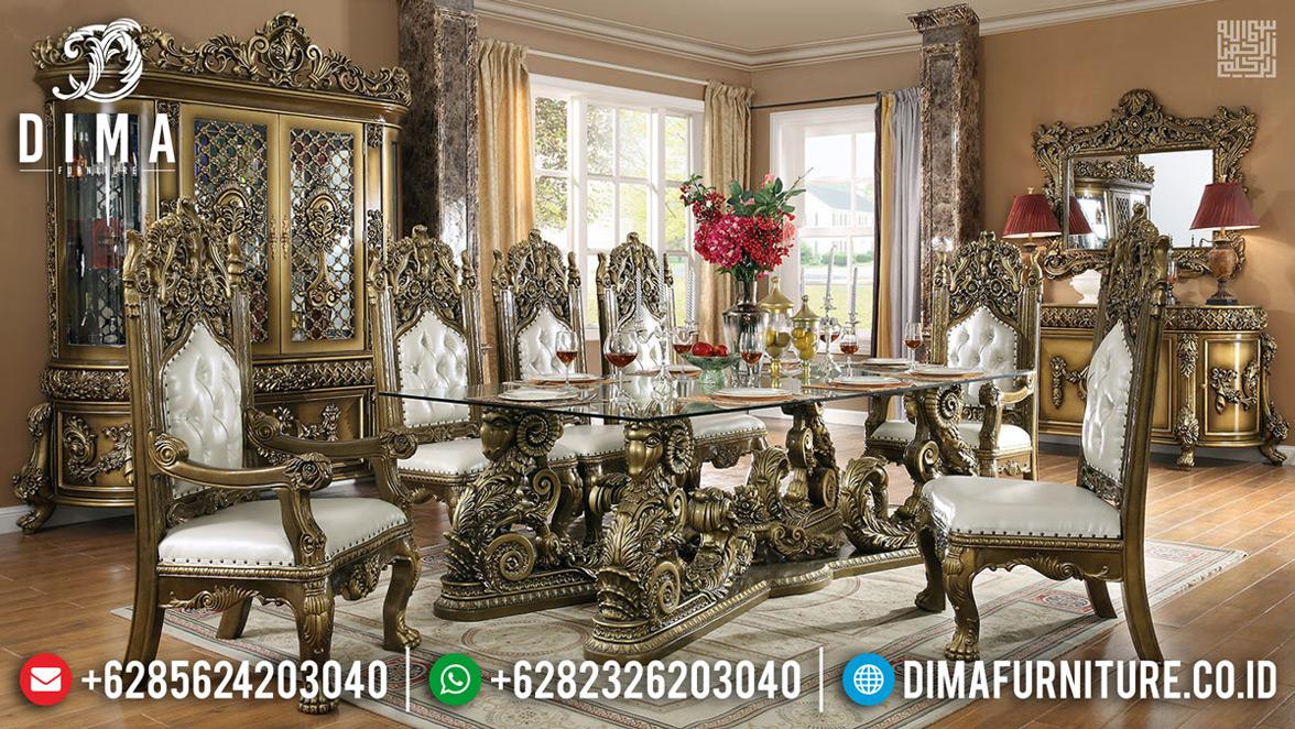 Set Meja Makan Mewah Luxury Classic Golden Black Shadow Best Product MMJ-0711