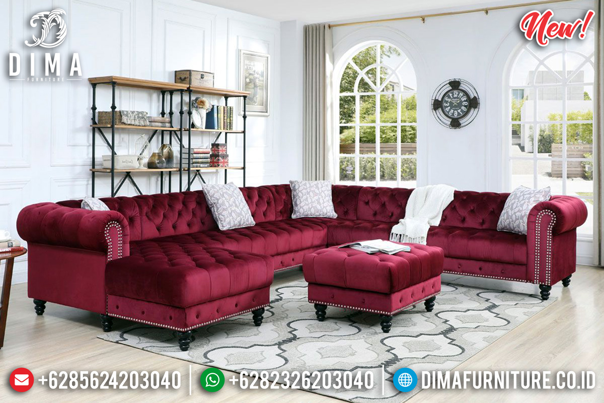 Set Sofa Tamu Minimalis New Chesterfield Beautiful Furniture Jepara MMJ-0783