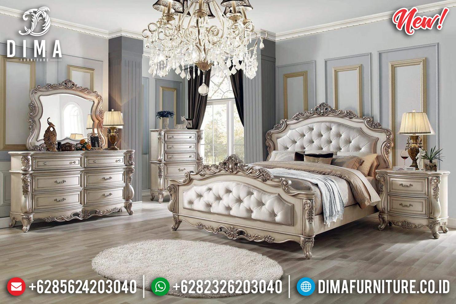 Vanity Room Kamar Set Klasik White Duco Ivory New Luxury Classic Jepara MMJ-0746