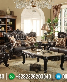 Wonderful Sofa Tamu Mewah Jati Natural Luxury Carving Solid Wood Good Quality MMJ-0812