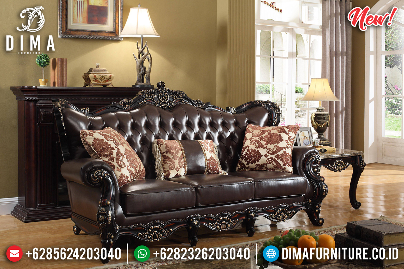 Wonderful Sofa Tamu Mewah Jati Natural Luxury Carving Solid Wood Good Quality MMJ-0812 Detail
