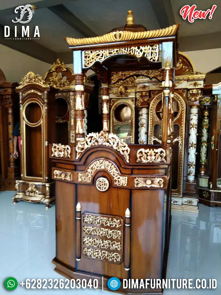 Best Seller Mimbar Masjid Kubah Kaligrafi Surat Al Ikhlas New Model MMJ-0845 Detail 1