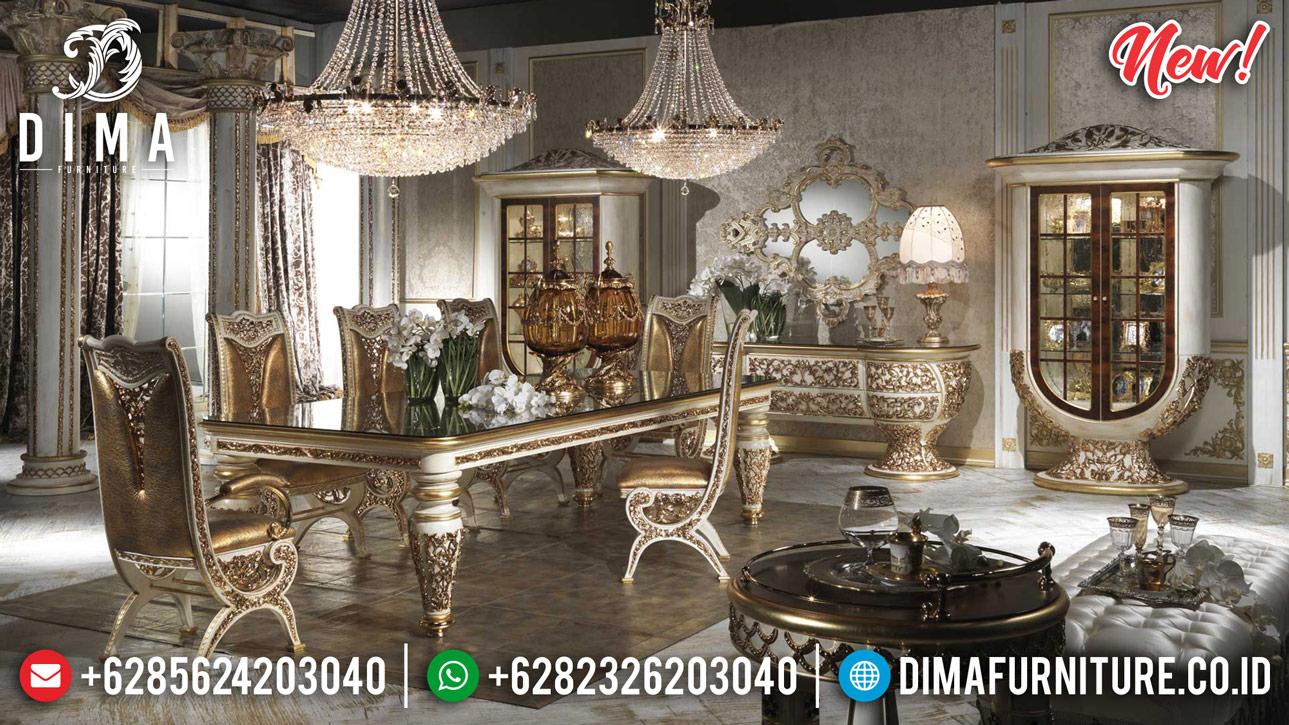 Elegant Style Meja Makan Mewah Ukiran Jepara Luxury Classic Berkualitas MMJ-0891