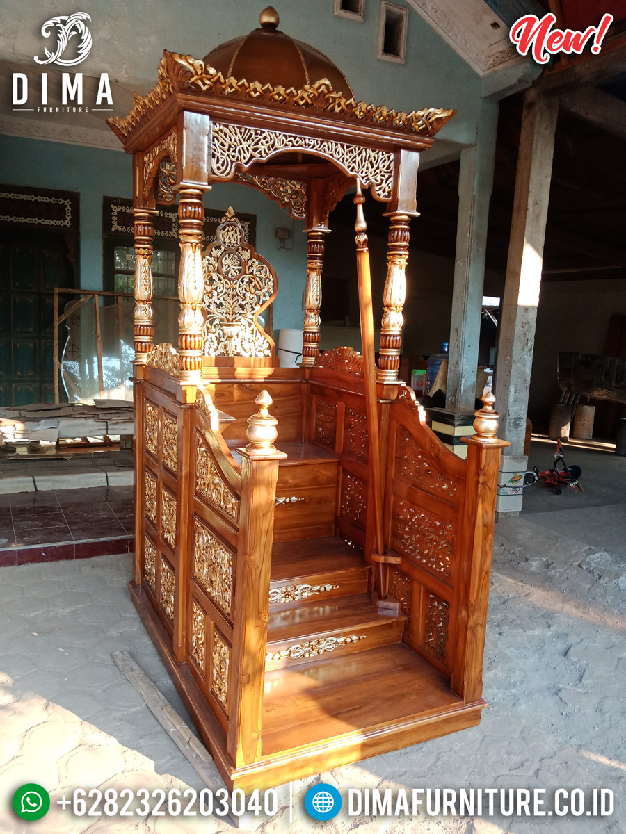 Great Wood Jati Mimbar Masjid Kubah Ukiran Luxury Furniture Jepara MMJ-0852 Detail 1
