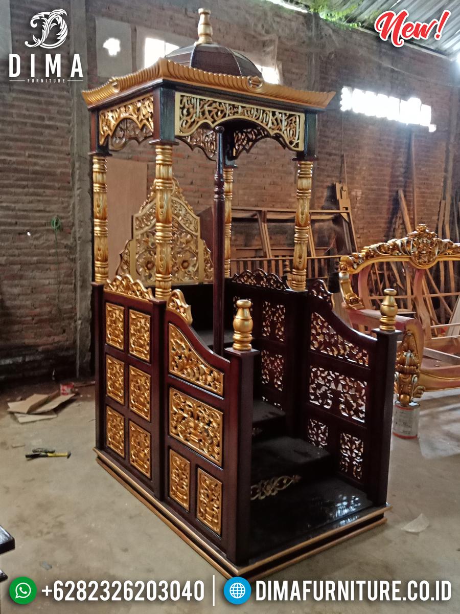 Jual Mimbar Jati Jepara Harga Terjangkau Desain Epic Luxury MMJ-0849 Detail 1