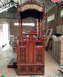 Mimbar Masjid Ukiran Jati Natural Luxury Classic Furniture Jepara MMJ-0859