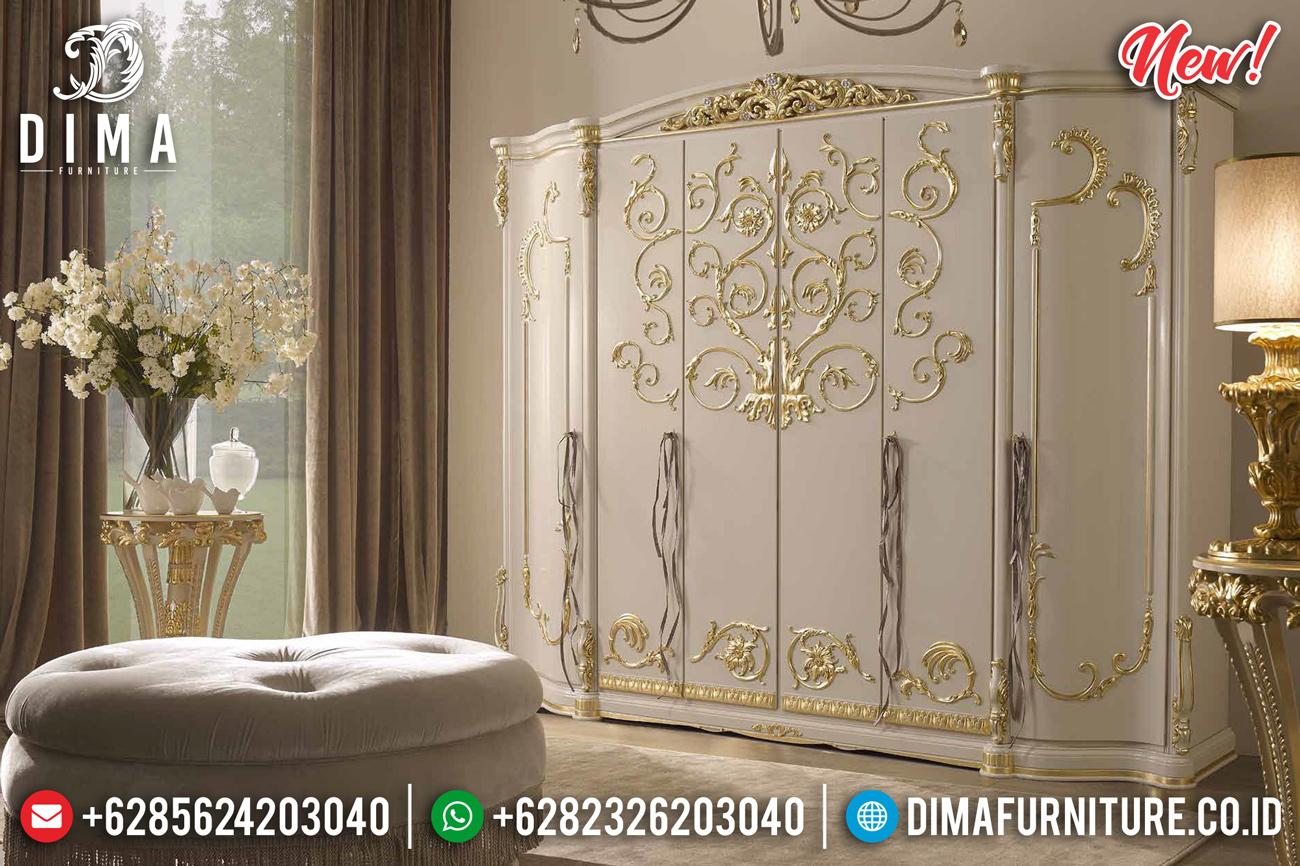 Motif Ulir Lemari Pakaian Ukiran Mewah Luxury Carving Jepara MMJ-0862