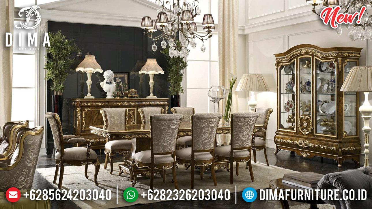 New Meja Makan Mewah Kayu Jati Ukiran Luxury Desain Rome Empire MMJ-0889
