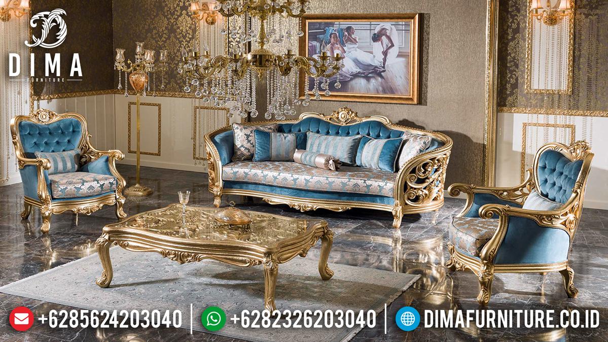 New Model Sofa Tamu Mewah Classic Luxury Gold Carving Design Inspiring MMJ-0838