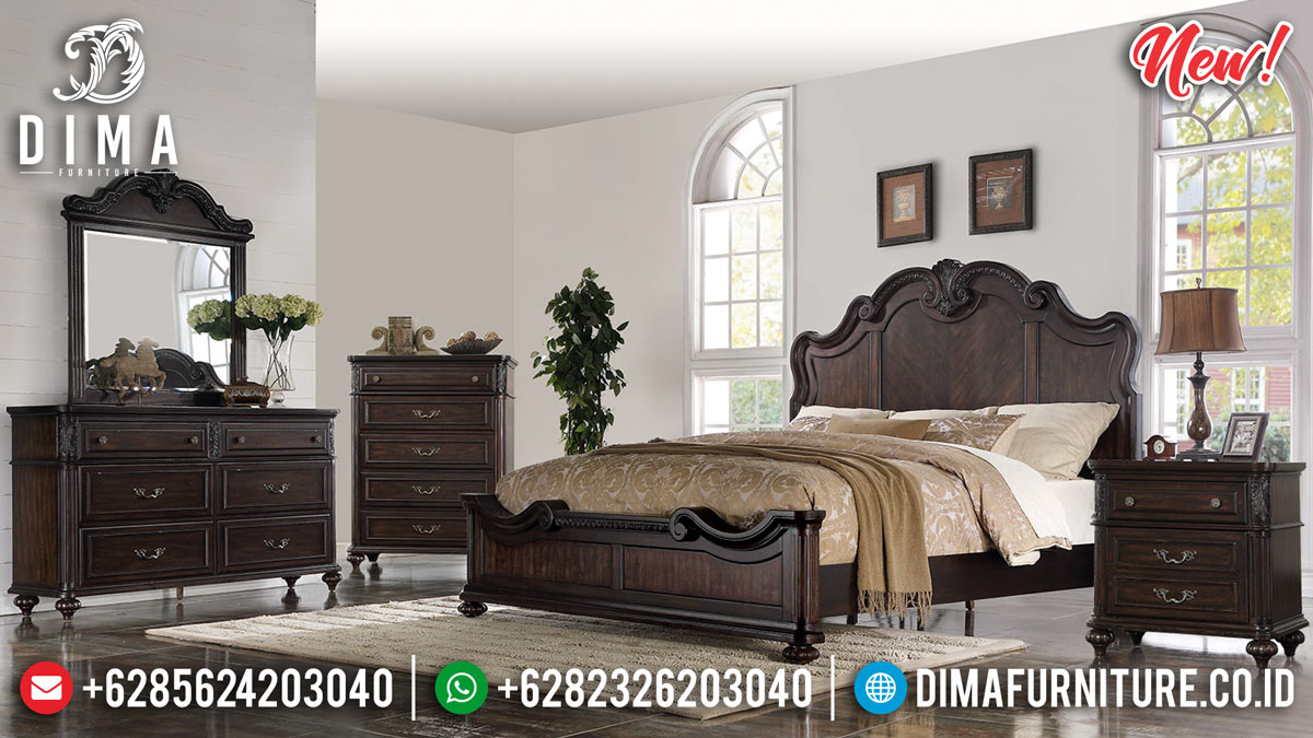 Original Teak Wood Kamar Set Jati Luxury Classic Elite Design MMJ-0876