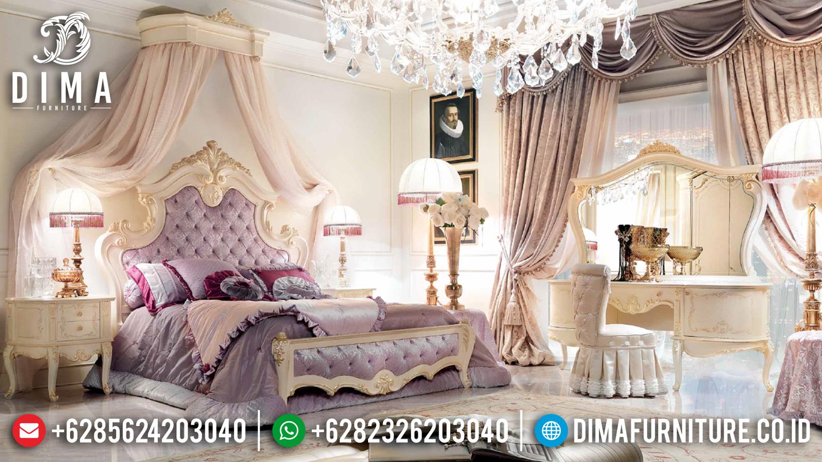 Jual Tempat Tidur Mewah Jepara Ivory Gold Duco Crown Premier MMJ-0928