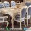 Sale Meja Makan Jepara Mewah Classic Ivory Golden Sintia MMJ-0922
