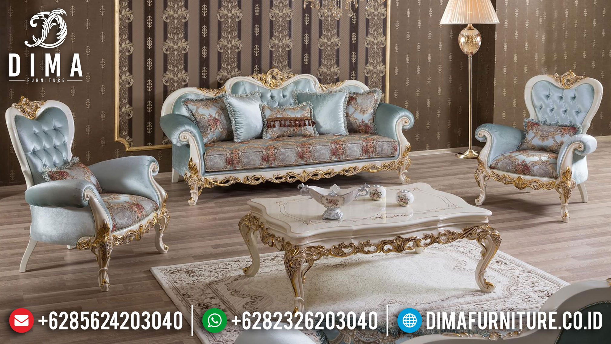Best Sale Sofa Tamu Jepara Design Turkish Koltuk Living Room Luxury MMJ-0943