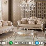 Georgeus Sofa Tamu Mewah Jepara Luxurious White Duco Glossy MMJ-0942