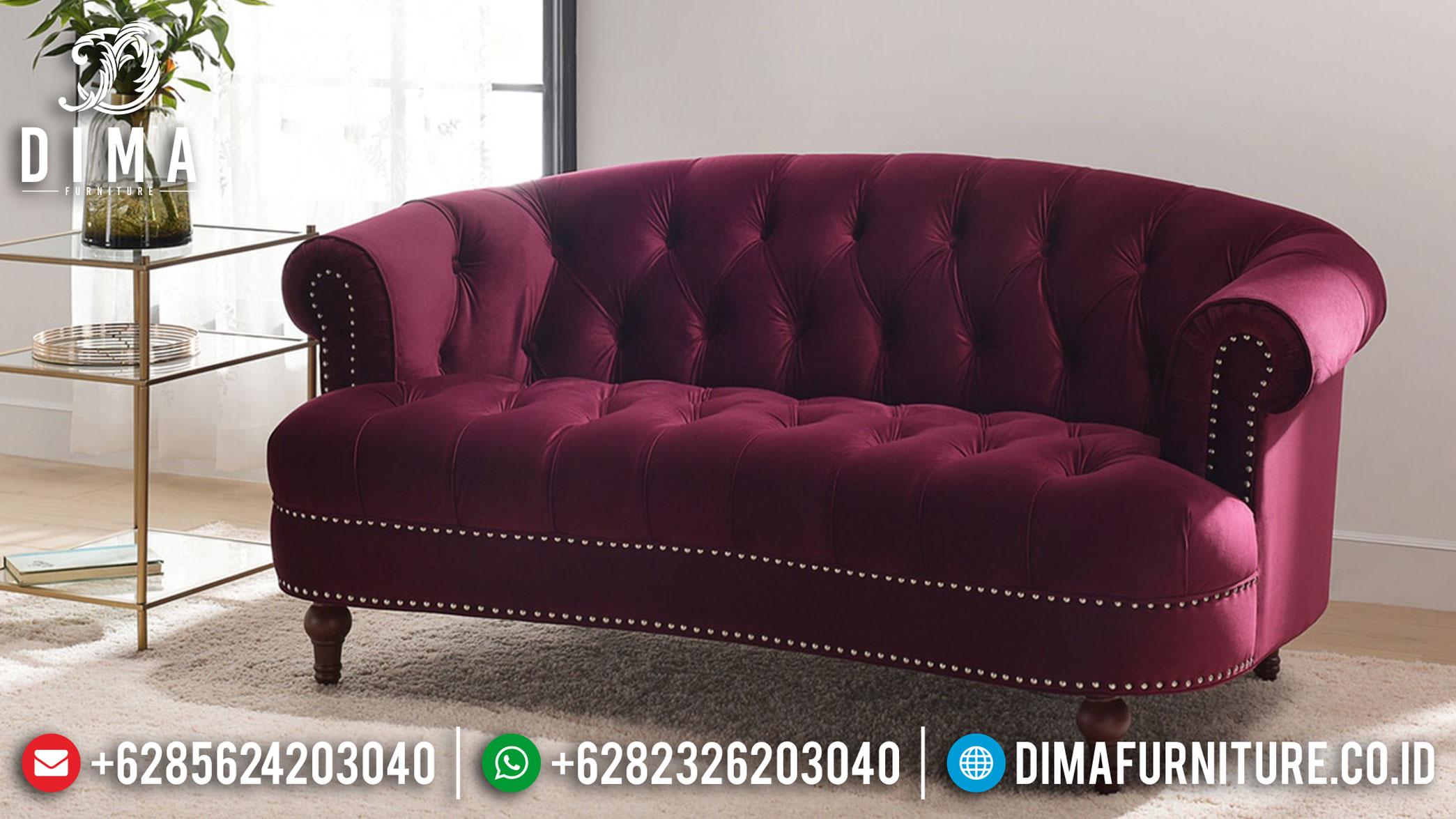 New Release Sofa Tamu 3 Seater Minimalis Modern Elegant Red Maroon MMJ-0936
