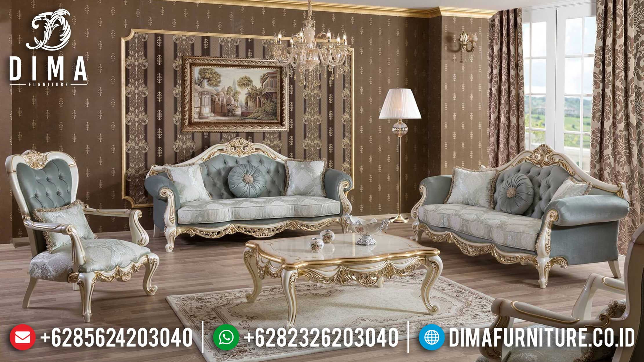 Sale On Weekend Sofa Tamu Mewah Jepara Harga Istimewa Beautiful Design MMJ-0944