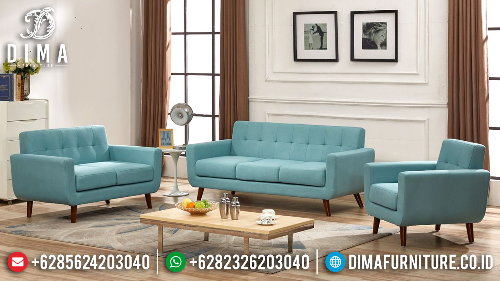 Set Sofa Tamu Minimalis Modern Beautiful Color Velvet New 2020 MMJ-0935
