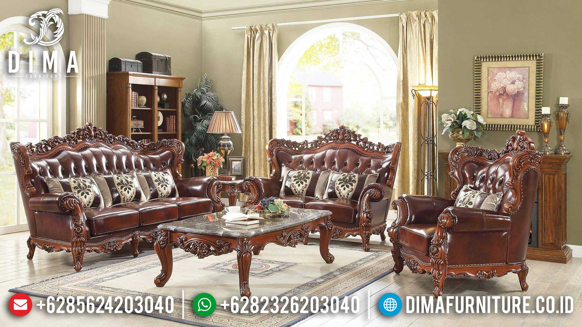 Sofa Tamu Jati Mewah Luxury Design Classic Interior Majestic MMJ-0937