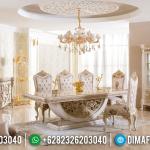 Luxurious Rich Set Meja Makan Mewah Ukir Jepara Klasik MMJ-0950