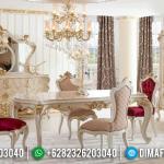 New Meja Makan Mewah Classic Ukir Jepara Ivory Gold MMJ-0949