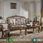 Sale Set Sofa Tamu Mewah Jati Natural Gold Tiara MMJ-0948