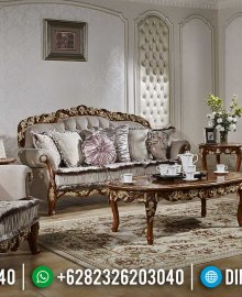 Sale Set Sofa Tamu Mewah Jati Natural Gold Tiara MMJ-0948